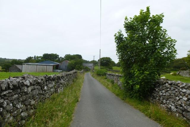 Road leading to Rhiwgoch crossroads