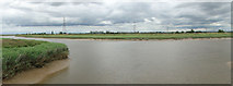 TF5914 : River Great Ouse from the bridge on Eau Brink Road by Adrian S Pye