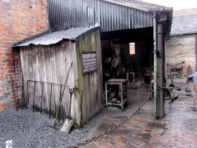 Chainmaker's premises in the Black Country Living Museum, Dudley