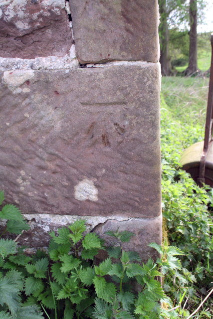 Benchmark on barn near Sideway Bank