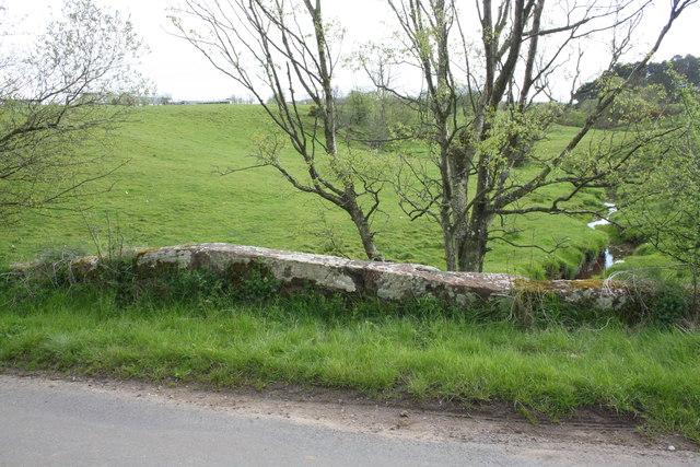 Teas Bridge taking road over Teas Sike