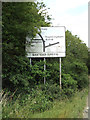TM2564 : Roadsign on the A1120 Saxtead Road by Geographer