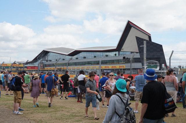 Formula One Paddock Club building at Silverstone