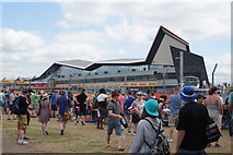 SP6741 : Formula One Paddock Club building at Silverstone by Ian S