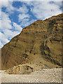 SZ6285 : Landslide, Red Cliff by Hugh Venables