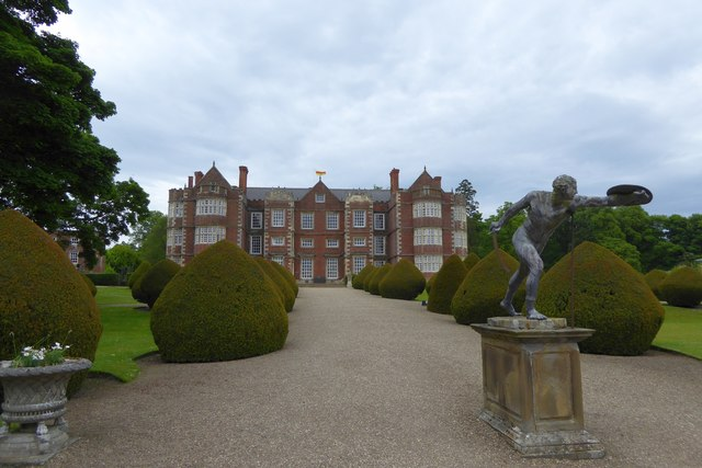 The front drive of Burton Agnes Hall
