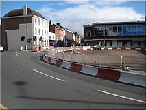 SO8554 : Realigning the roundabout by Philip Halling