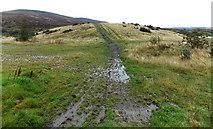 SS8591 : Muddy track towards a mound, Maesteg by Jaggery