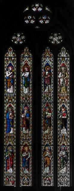 Stained glass window, Worcester Cathedral