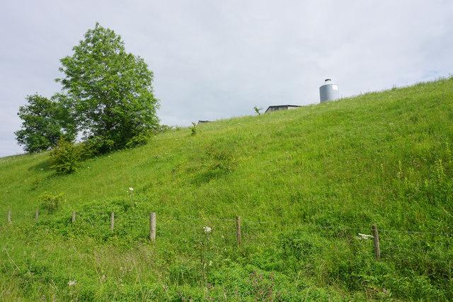 A glimpse of farm buildings near Fenny Bentley