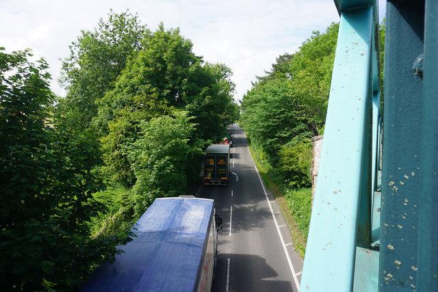 The A515 below the Tissington Trail