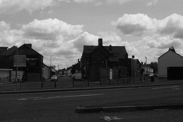 Leven Street and Parliament Road converging on Newport Road, Middlesbrough