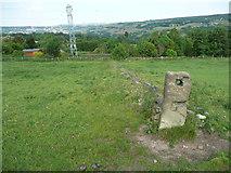 SE0322 : Redundant gate post next to Sowerby Bridge FP140 (Link B) by Humphrey Bolton