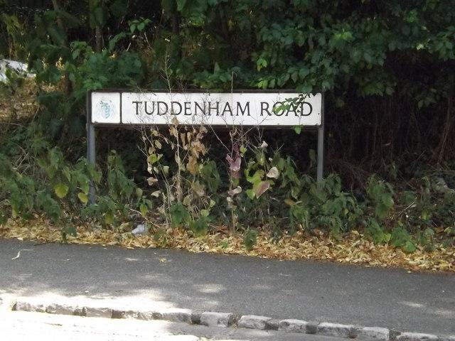 Tuddenham Road sign