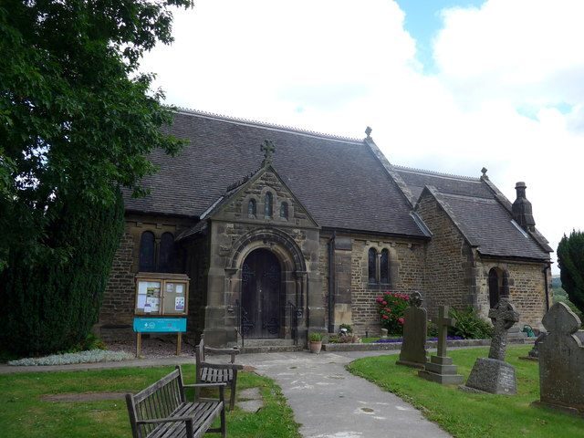 St Katharine, Rowsley: late July 2015
