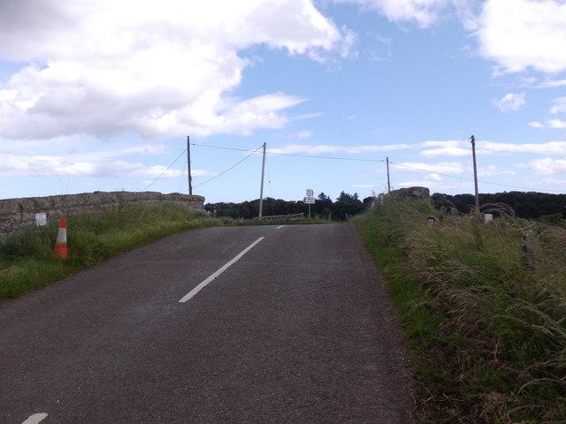 Road junction at Usan