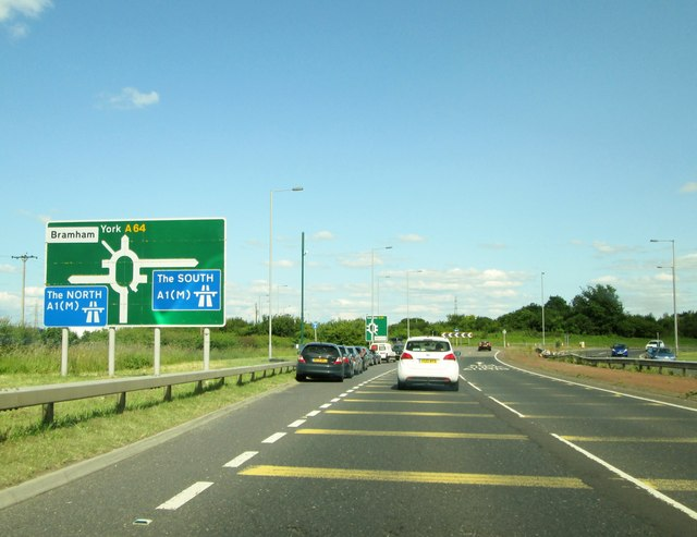 A64 Approaching Junction 44 A1 M 169 Martin Dawes