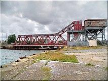 SJ3290 : Tower Road Bascule Bridge, Birkenhead Docks by David Dixon