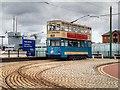 SJ3289 : Tram 69 outside the U-Boat Exhibition at Woodside by David Dixon