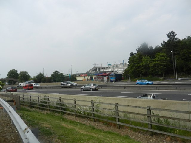 A view across the M1