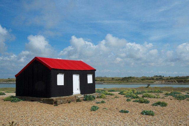 Rye Harbour The Black shed with red roof