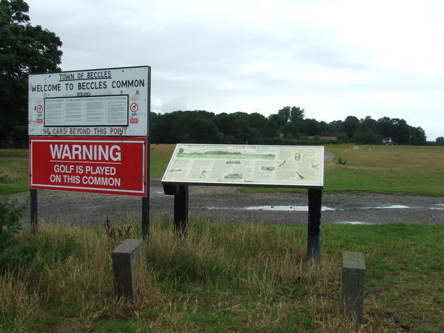 Notice And Information Boards At Beccles Common