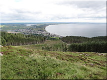 J3629 : Forest clearings viewed from the slopes of Slievenamaddy by Eric Jones