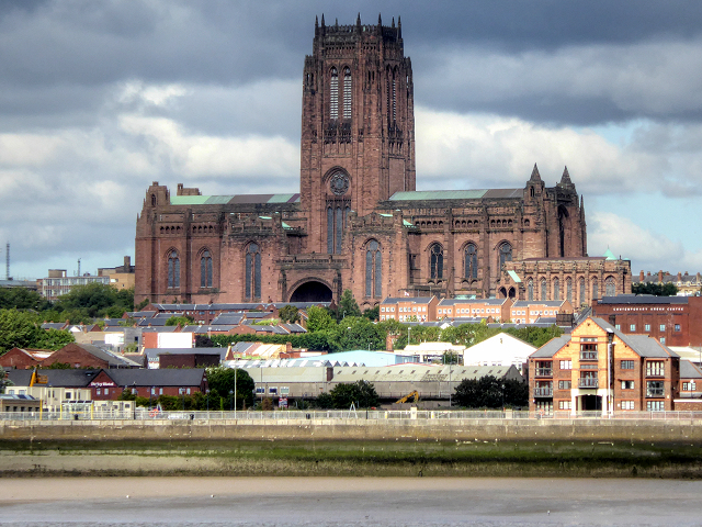 Liverpool Cathedral, View from the River