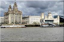 SJ3390 : Liverpool Waterfront, The Three Graces by David Dixon