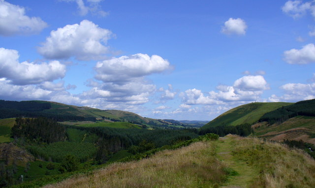 View to NE from summit of Sugar Loaf
