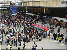 TQ3179 : Waterloo Station concourse by Hugh Venables