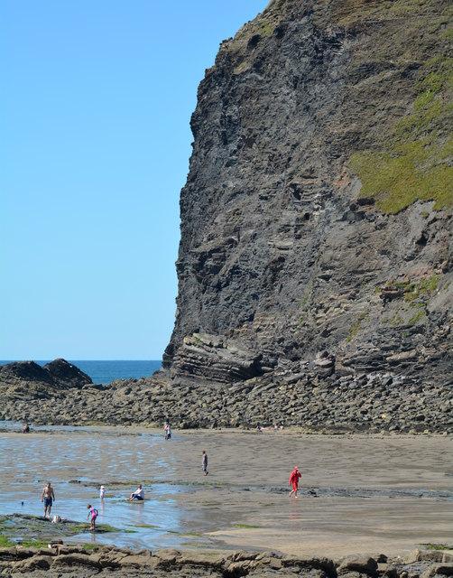 On the beach at Crackington Haven, Cornwall