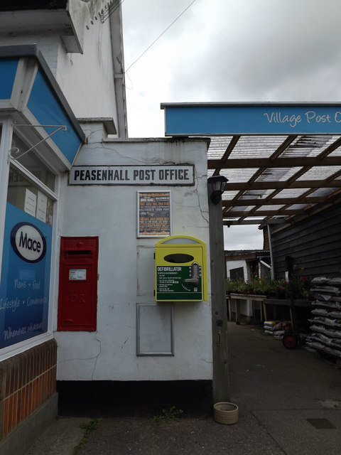 The Street George V Postbox & Defibrillator
