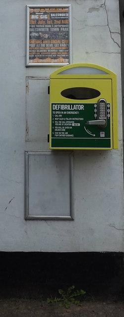 Defibrillator at Peasenhall Post Office