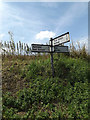 TM2164 : Roadsign on Low Road by Geographer