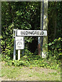 TM1866 : Bedingfield Village Name sign on Eye Road by Adrian Cable