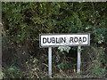 TM1768 : Dublin Road sign by Adrian Cable
