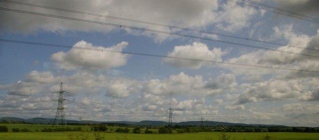 Pylon lines east of Picton