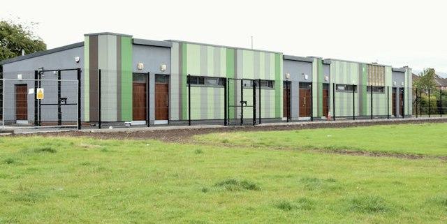 New changing rooms, Dixon Park, Belfast (August 2015)
