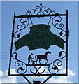 NU2118 : Sign for the Horse Shoes Inn, Rennington by JThomas