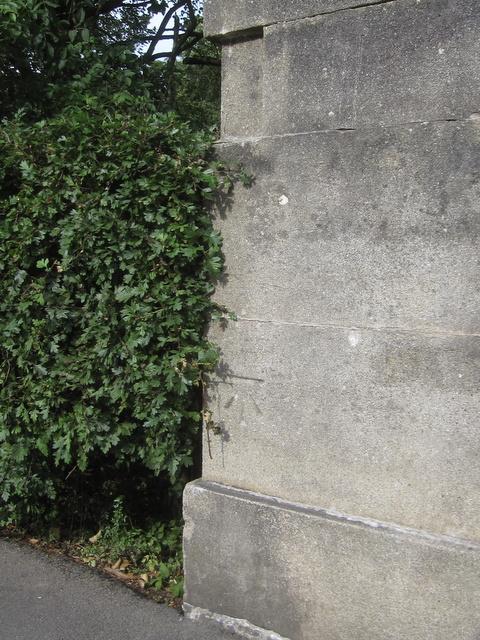 Bench mark on Peasholm Glen Bridge - N.E.