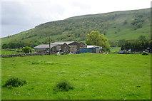SD9771 : Field and farm below Scargill House by Bill Boaden