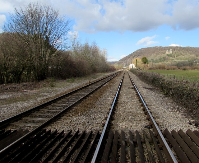 Railway north from Gelynis level crossing, Morganstown, Cardiff