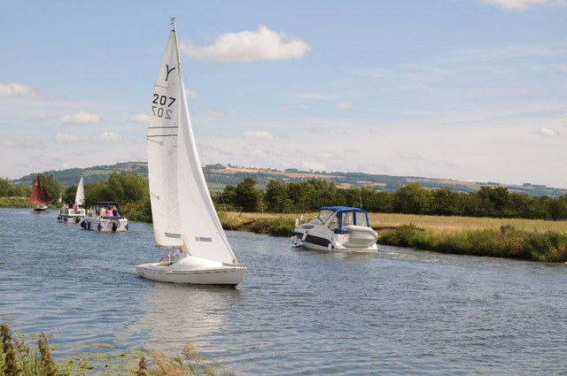 Yacht on the River Avon