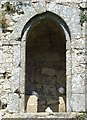 TQ0213 : Amberley Castle - Three doves in an arched recess by Rob Farrow