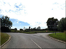 TM1469 : B1077 Castle Hill, Thorndon by Geographer