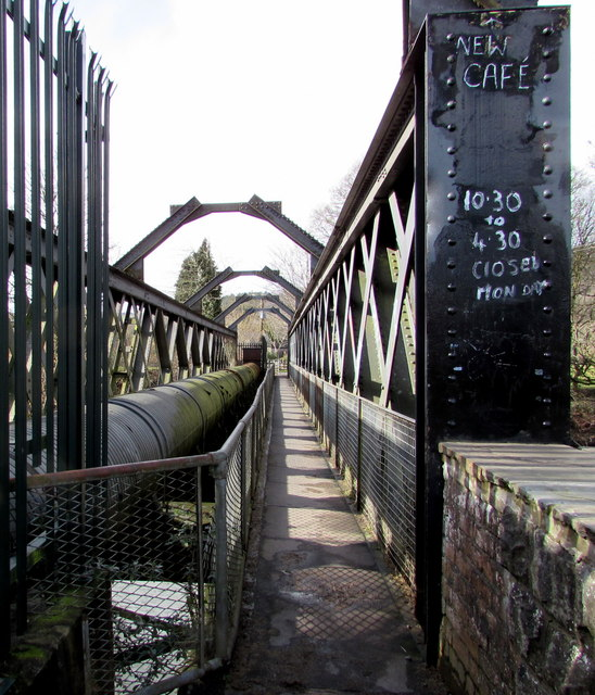 Eastern end of Iron Bridge over the River Taff between Tongwynlais and Morganstown