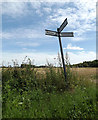 TM1468 : Roadsign on Hall Road by Adrian Cable