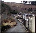 SS8595 : Lane west of Cymer Afan Comprehensive School, Cymmer by Jaggery