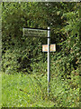 TM1467 : Roadsign on Wetheringsett Road by Adrian Cable